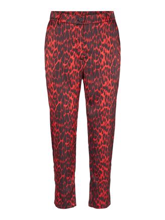RED ANIMAL SATEEN PANT - RIO RED