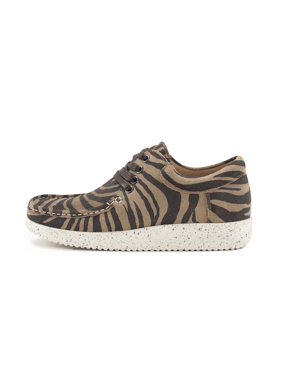 316aa2edb95 Anna Suede | Nature sko - Zebra - MAAK-shop