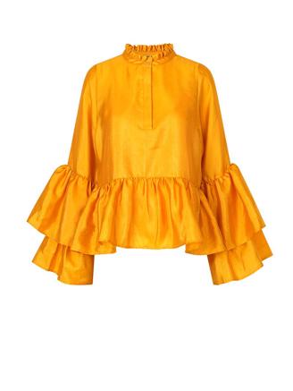 Alfridacras Blouse, Golden Yellow