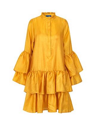 Alfridacras Dress, Golden Yellow