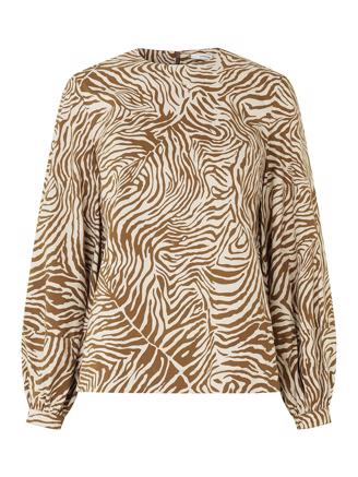 Aram blouse aop 10783, Mountain Zebra
