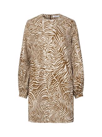 Aram short dress aop 10783, Mountain Zebra