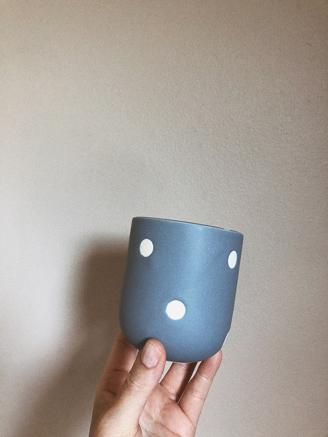 Blue Dot Cup Tall