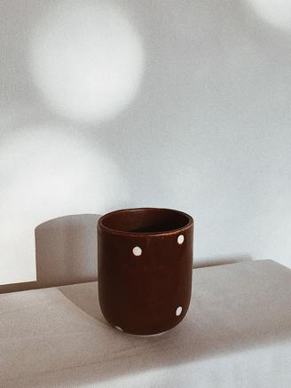 Brown Dot Cup Tall