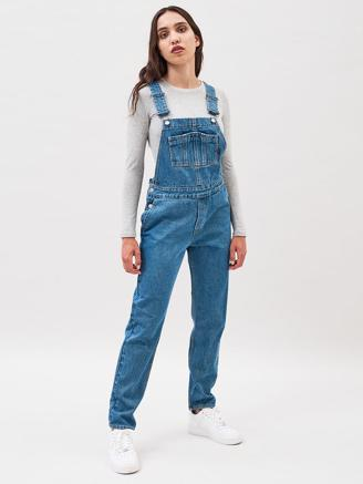 DARCY DUNGAREES - COOL BLUE