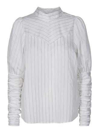 Dina Puff Stripe Shirt - Off White