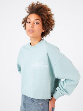 Dree Sweater, Washed Aqua Re-use