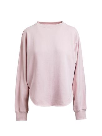 Edda, Loop Back Curved Sweat, Rose