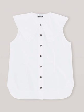 F4715 Sleeveless Shirt - Bright White