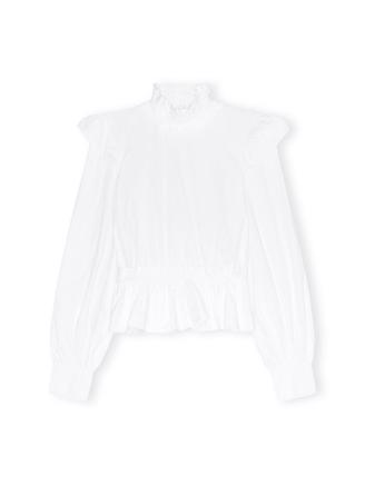 F5446 Cropped Blouse, Bright White