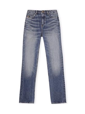 F5482 High-waisted Straight Jeans, Washed Denim