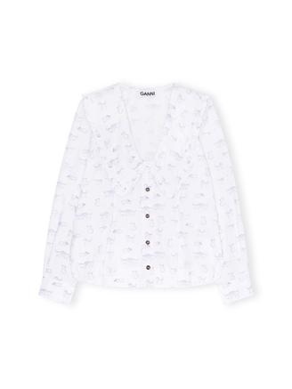 F5777 V-Neck Shirt, Bright White