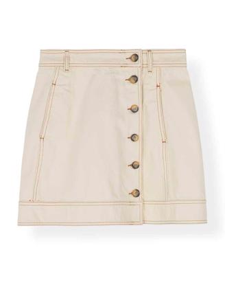 F3553 HEAVY TWILL SKIRT - VANILLA