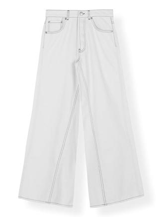 F3734 WIDE PANTS - BRIGHT WHITE