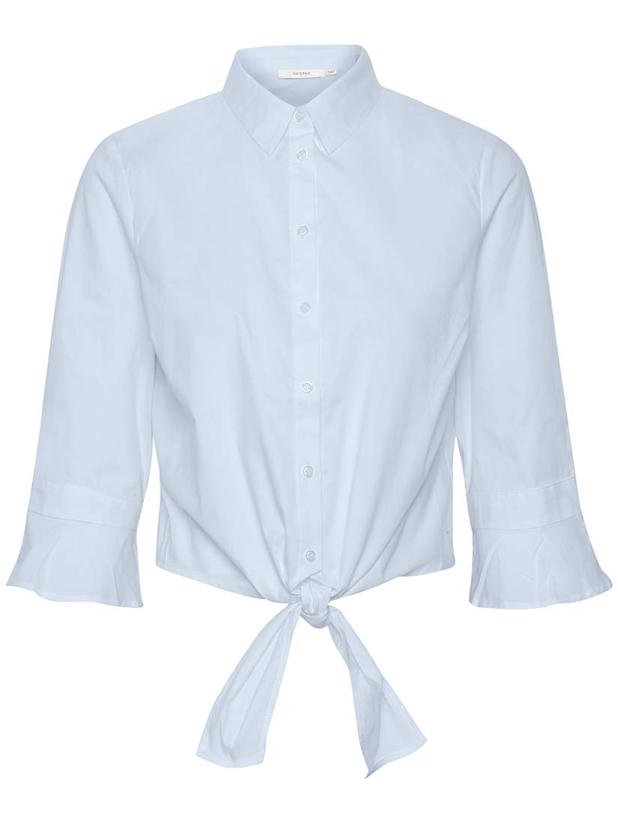 IBBYGZ CROPPED SHIRT - XENON BLUE
