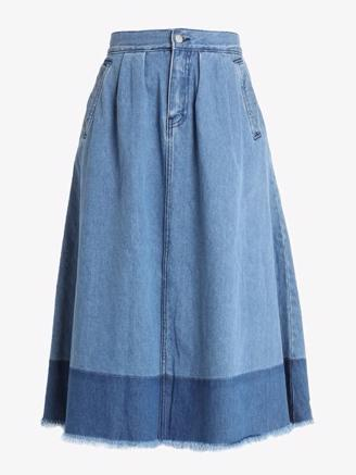 GOLDIE DENIM SKIRT - MID BLUE WASH