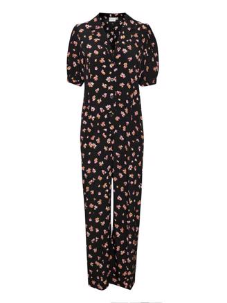 GITLAGZ JUMPSUIT - BLACK PINK FLOWER