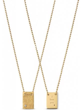 I LOVE YOU NECKLACE - GOLD