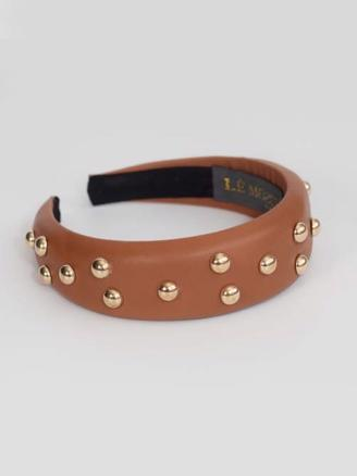 IBEN HAIRBAND - BROWN STUDS