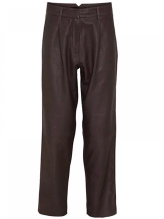 Iris Leather Pants - Black