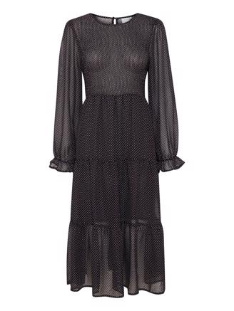 IxOlly Dress - Black With Dot