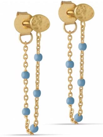 LOLA EARRING BLUE - GOLD