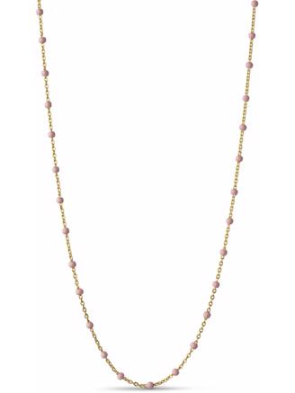 LOLA NECKLACE GULD - LIGHT PINK
