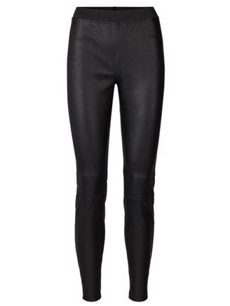 SALLY LEATHER PANTS - BLACK