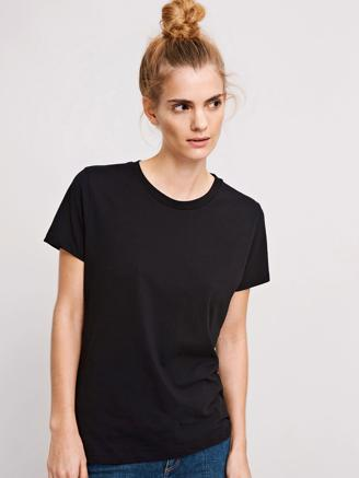 SOLLY TEE SOLID - BLACK