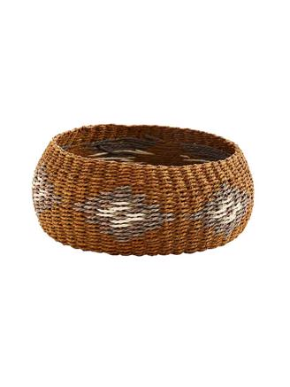 ROUND PAPER ROPE BASKET - BROWN