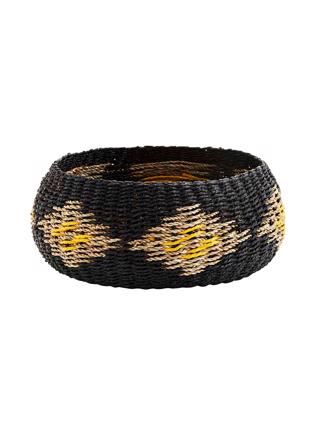 ROUND ROPE BASKET - BLACK/NAT/YELLO