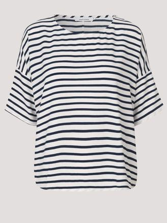 MAINS TEE STRIPE 5687 - BLUECREAM SMALL