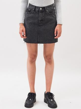 MALLORY DENIM SKIRT - RETRO BLACK