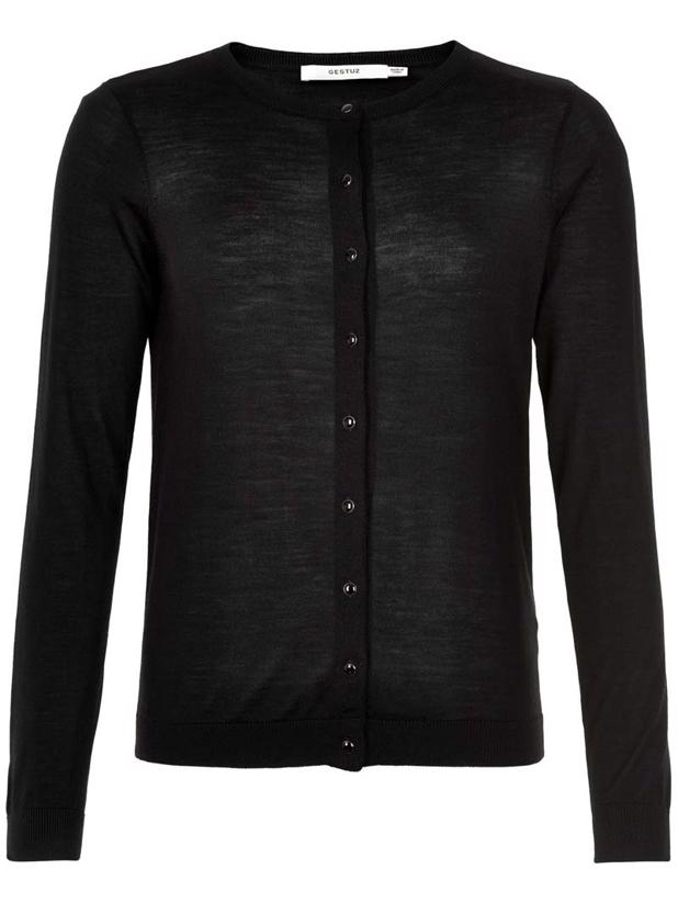 MERINAGZ CARDIGAN - BLACK