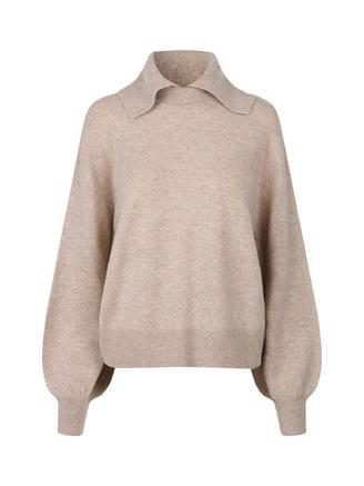 Nori crew neck 12758, Warm Grey Melange