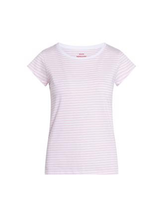 Organic Favorite Stripe Teasy, White/Light Pink