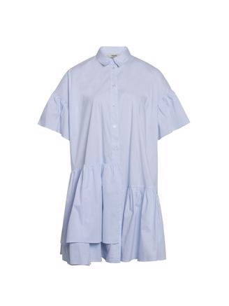 Organic Poplin Darlene, Light Blue