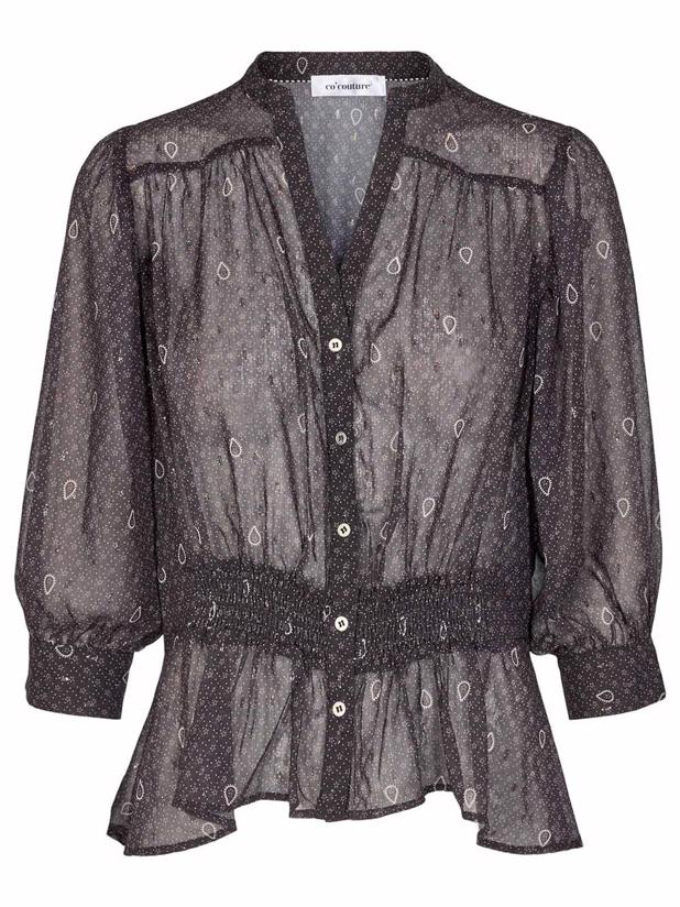 PAISLEY NIGHT SHIRT - BLACK