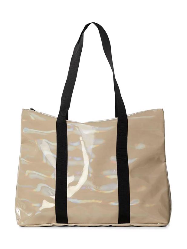 HOLOGRAPHIC CITY TOTE - BEIGE