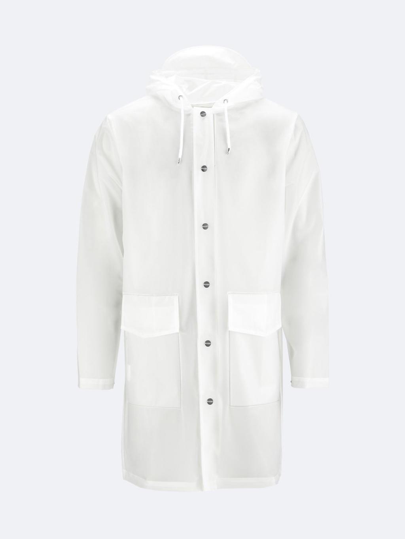 d4902653fa6 Rains Hooded Coat, foggy white   Shop online på MAAK-Shop