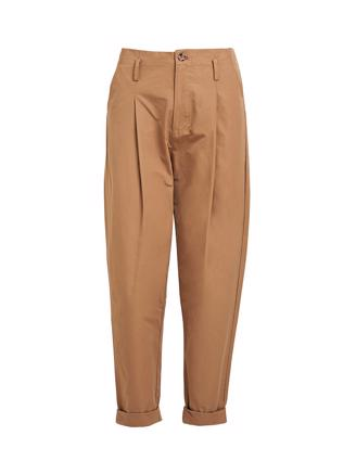 Raina, Opaque Pleat Pant, Tobacco
