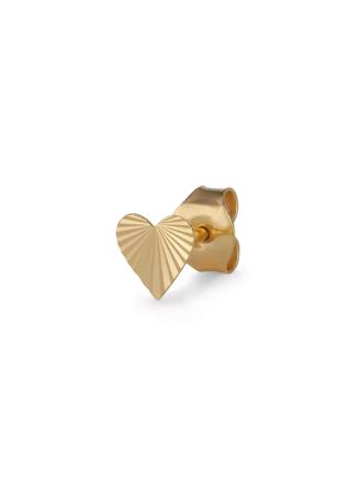 Reflection Heart Stud - Guld