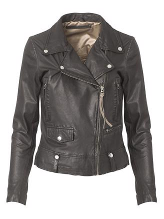 SEATTLE NEW THIN LEATHER JACKET - BLACK