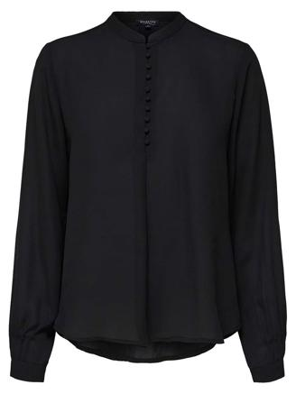 SLFDYLANA LS SHIRT - BLACK