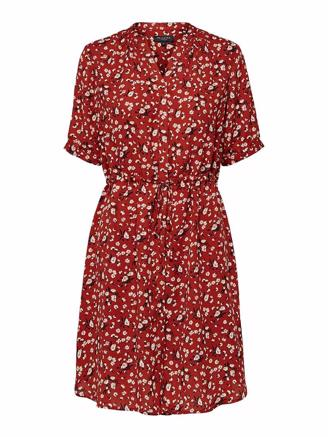 SLFPOPPY DAMINA DRESS - CHILI OIL