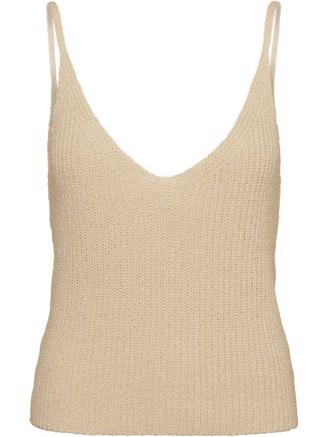 SHANA KNIT TOP - OFF WHITE