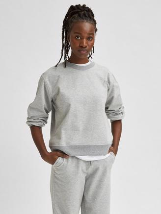 SlfAlana LS Sweat, Medium Grey Melange