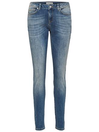 SLFIDA MW SKINNY - MEDIUM BLUE DENIM
