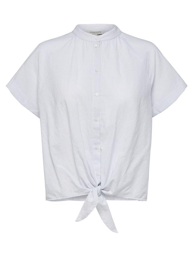 SLFSUMMER KNOT SHIRT - BRIGHT WHITE
