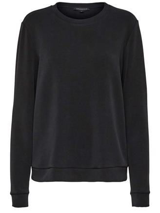 SLFTUIJA LS SWEAT - BLACK